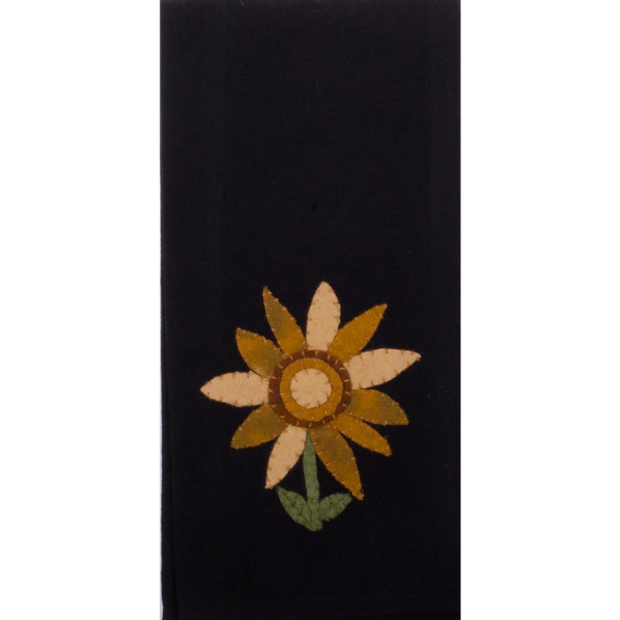 Sunflower Power Black Kitchen Towels by Raghu (Set of 2) (ETDG0037)