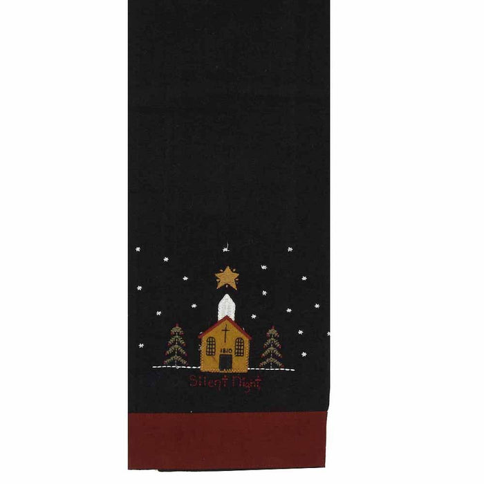 Silent Night Towel - Set of 2 by Raghu (ETSL0003)