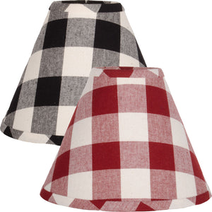Buffalo Check Lampshades - Black, Red or Blue