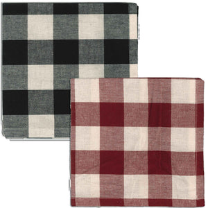 Buffalo Check Napkins - Black, Red or Blue - Set of 6