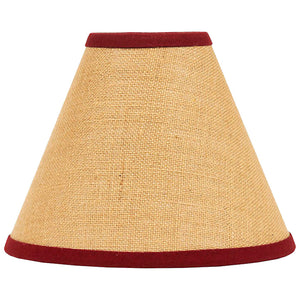 "Burlap Stripe Barn Red 12"" Lampshade by Raghu"