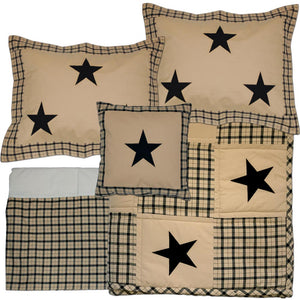 Farmhouse Star Queen Quilt Bundle - 5 pc Set