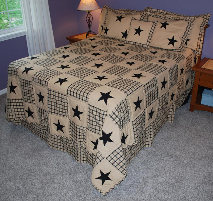 Farmhouse Star Quilt King Queen
