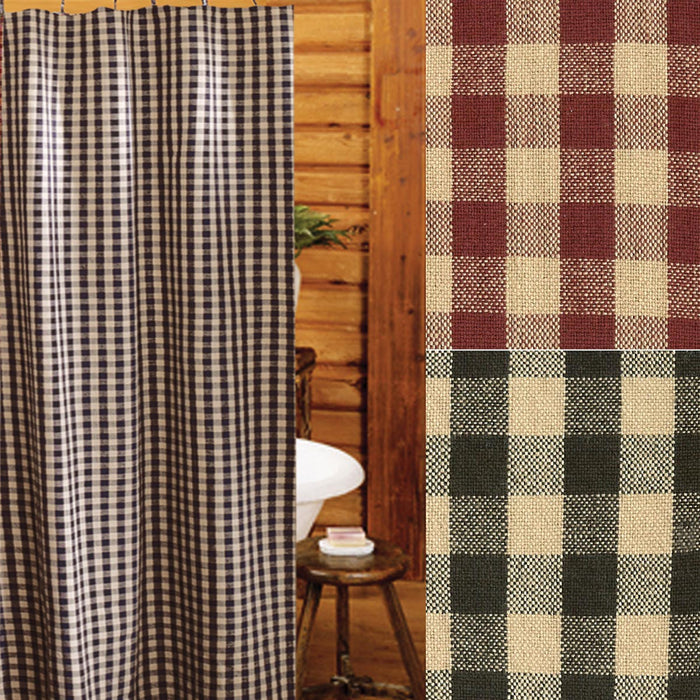Heritage House Check Shower Curtain