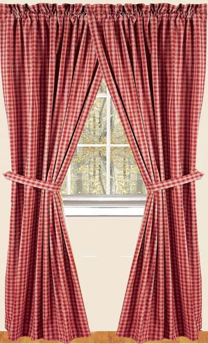 Heritage House Barn Red Curtain Panels by Raghu