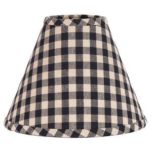 "Heritage House Check Black 16"" Lamp Shade"