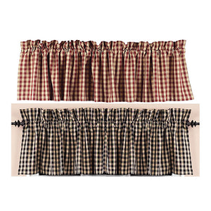 Heritage House Check Valance