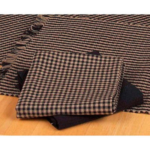 Newbury Gingham Black Towels (Set of 6) by Raghu