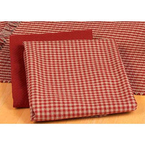 Newbury Gingham Barn Red Towels (Set of 6) by Raghu
