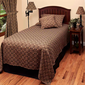 Marshfield Jacquard Woven Bedcover Black King by Raghu