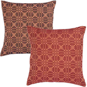 Marshfield Jacquard Pillow Cover Red or Black