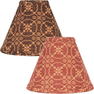 Marshfield Jacquard Lampshades Red or Black