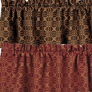 Marshfield Jacquard Valance Red or Black