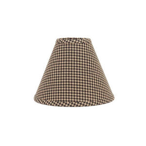 "Newbury Gingham Lampshade 10"" Regular Clip Black"