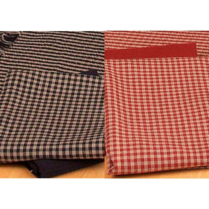 Newbury Gingham Kitchen Towel Red or Black - Set of 6