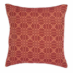 Marshfield Jacquard Pillow Cover Barn Red