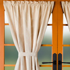 Candlewicking Cream Lined French Door Panel by Raghu (PF430005-PHD)