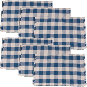 Buffalo Check Placemats - Blue (Set of 6) by Raghu