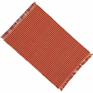 Newbury Gingham Placemats - Barn Red (Set of 6)
