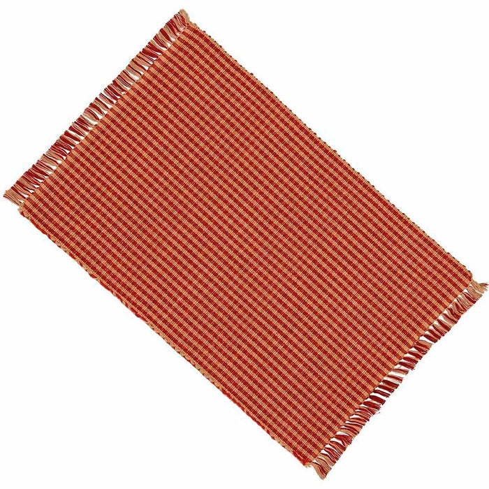 Newbury Gingham Placemats - Barn Red (Set of 6) by Raghu (PM670017)