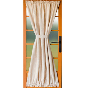 Candlewicking Cream Unlined French Door Panel