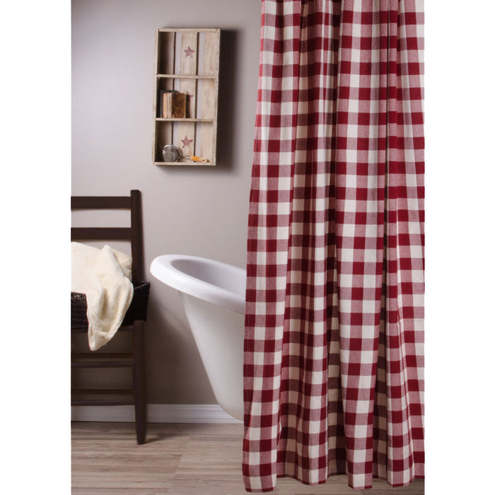 Buffalo Check Red Shower Curtain by Raghu (SC510017)
