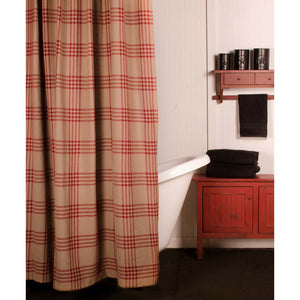 Chesterfield Check Shower Curtain Barn Red