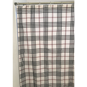 Chesterfield Check Shower Curtain Cream - Black - Red