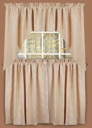 Candlewicking 36 Inch Curtain Tiers