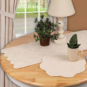 "Candlewicking Cream 36"" Table Runner"