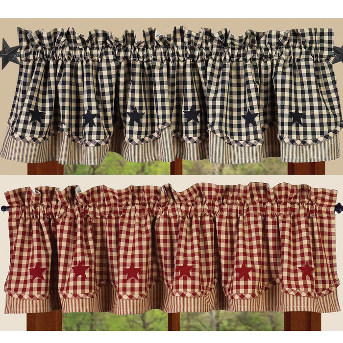 Heritage House Check Star Fairfield Valance