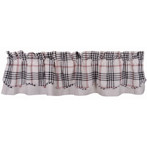 Chesterfield Check Fairfield Valance Cream - Black - Red