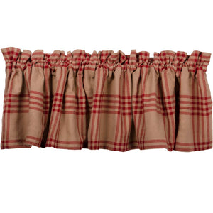 Chesterfield Check Valance Oat, Barn Red