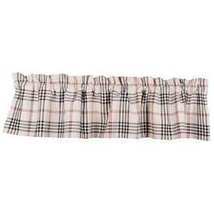 Chesterfield Check Valance Cream - Black - Red