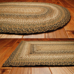 Coffee Jute Braided Rugs by HomeSpice Decor