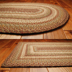 Harvest Jute Braided Rugs by HomeSpice Decor