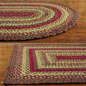Cinnamon Jute Braided Rugs by IHF Rugs