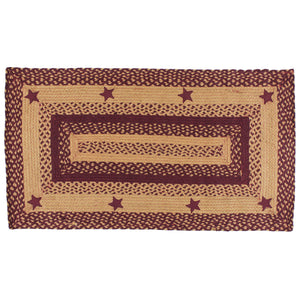 Wine Star 20x30 Braided Rug Rectangle