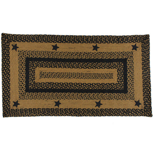 Black Star 4 x6  Braided Rug Rectangle
