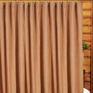 "York Ticking Barn Red and Nutmeg 72"" x 72"" Shower Curtain by Raghu"