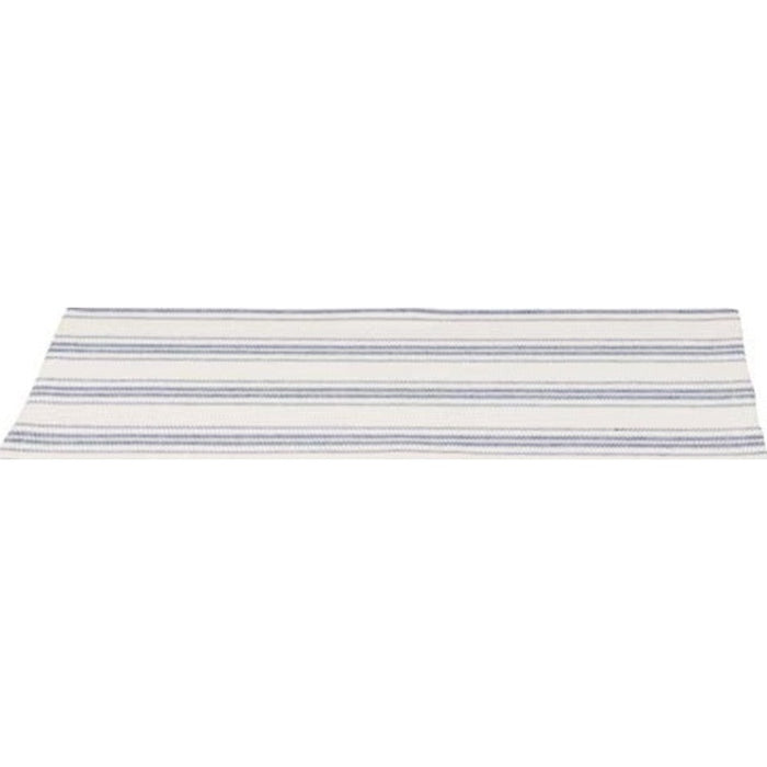 Grain Sack Stripe Colonial Blue and Cream Table Runner (T4165014)