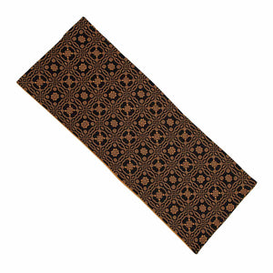 "Lover's Knot Jacquard Black and Mustard 36"" Table Runner by Raghu"
