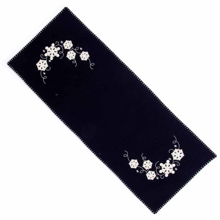 Snowflakes Table Runner from Home Collections by Raghu (TRRE0133)