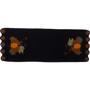 Pick A Pumpkin Table Runner Black