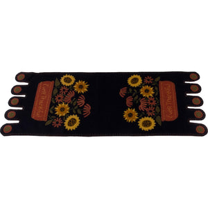 Ever Thankful Black Table Runner