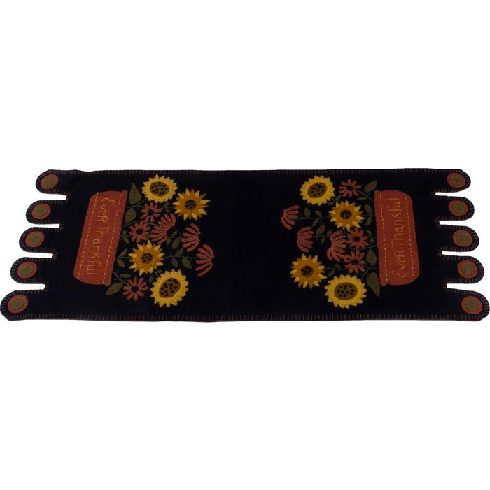 Ever Thankful Black Table Runner (TRSL0043)