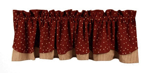 Salem Star Barn Red Fairfield Valance
