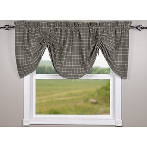 "Summerville Gathered Valance Pewter 72"" x 24"" Cotton Valance by Raghu"
