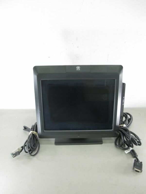 NCR 5965-1014-9090 15 Inch Retail POS System Touch Screen Monitor w/ Cables - Zeereez