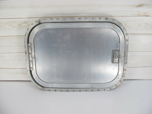 Rear Side Trunk Door Hatch from Vintage Airstream International Trailer 70s-80s - Zeereez